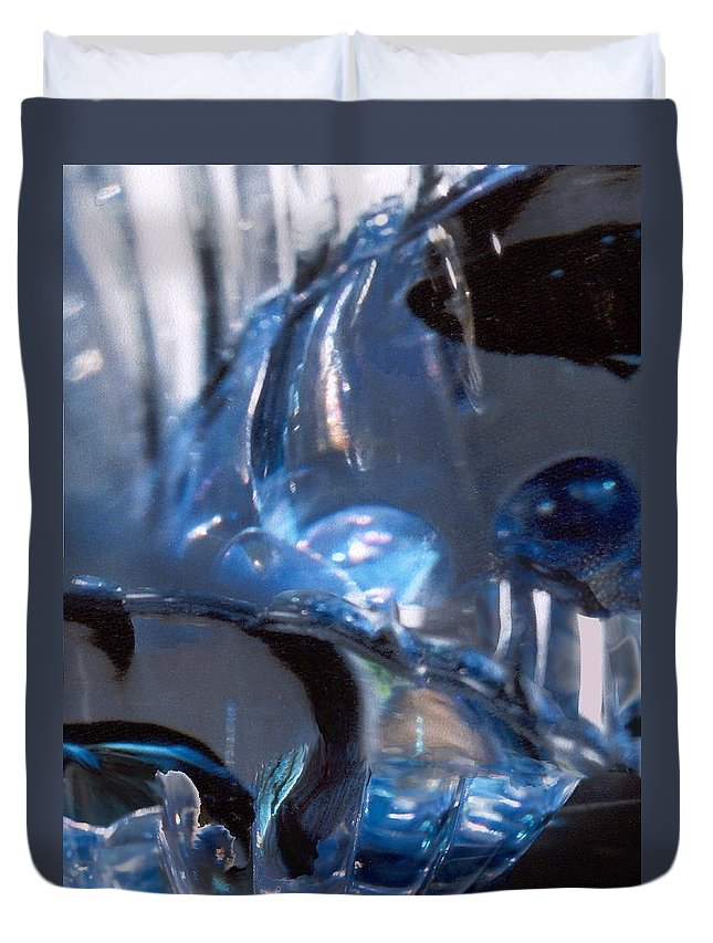 Glass Duvet Cover featuring the photograph Panel 2 From Swirl by Steve Karol