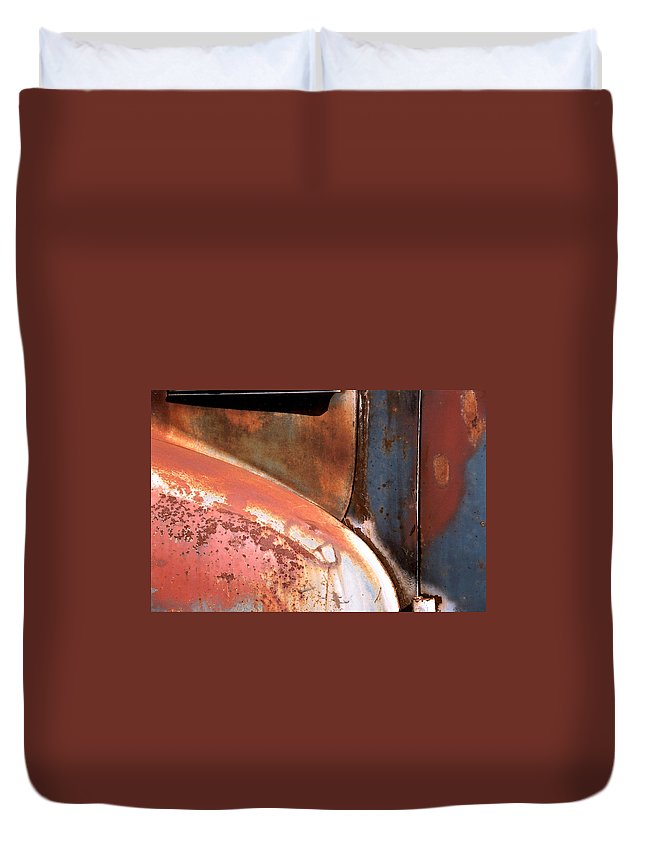 Abstract Duvet Cover featuring the photograph Panel From Ole Bill by Steve Karol