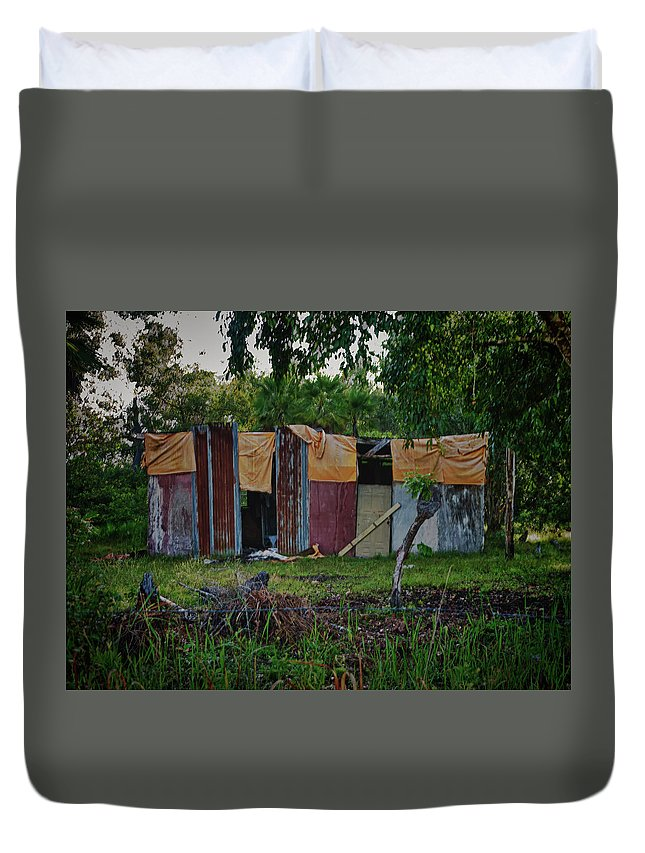 Makeshift Duvet Cover featuring the photograph Panel House by Jessica Levant