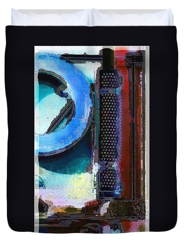 Abstract Duvet Cover featuring the photograph panel one from Centrifuge by Steve Karol