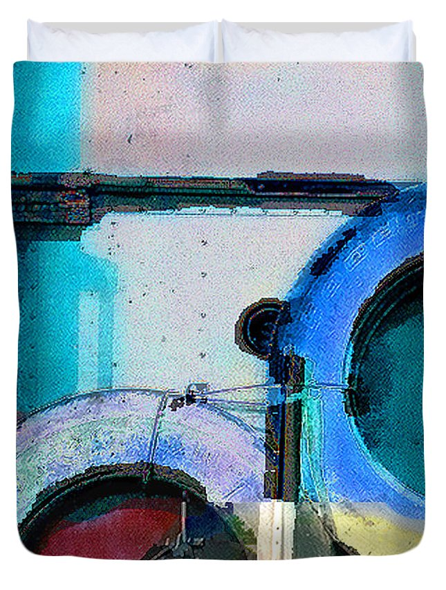Abstract Duvet Cover featuring the photograph panel three from Centrifuge by Steve Karol