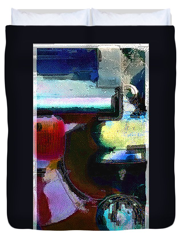 Abstract Duvet Cover featuring the photograph panel two from Centrifuge by Steve Karol
