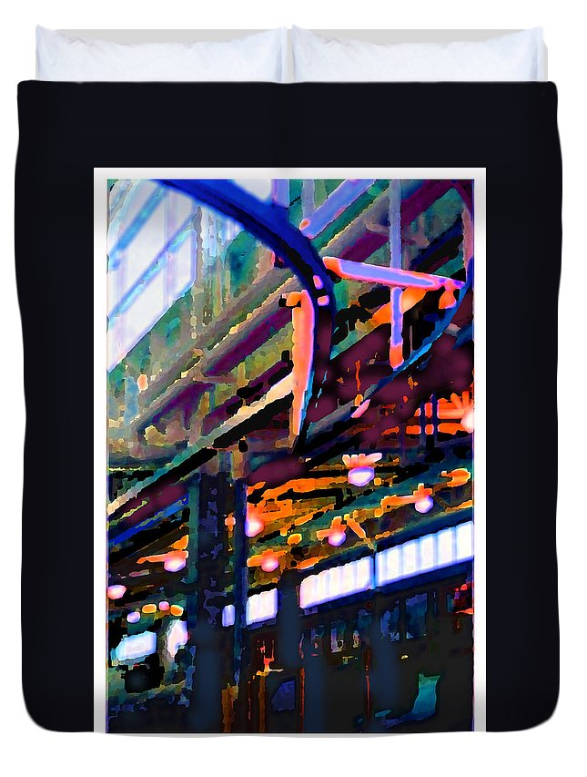Abstract Duvet Cover featuring the photograph panel two from Star Factory by Steve Karol