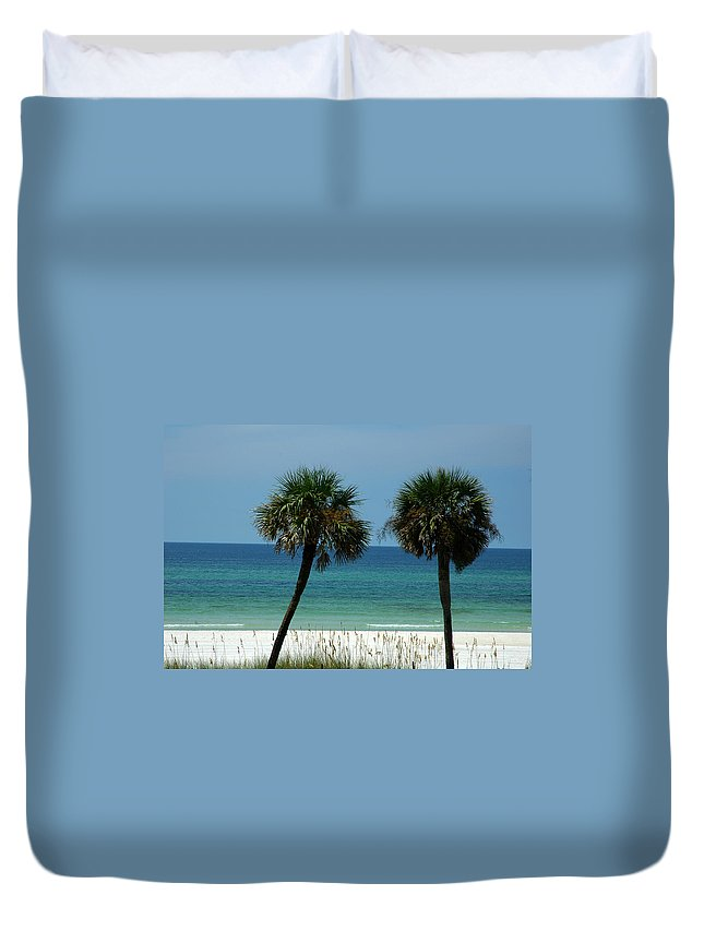 Panhandle Beaches Duvet Cover featuring the photograph Panhandle Beaches by Susanne Van Hulst