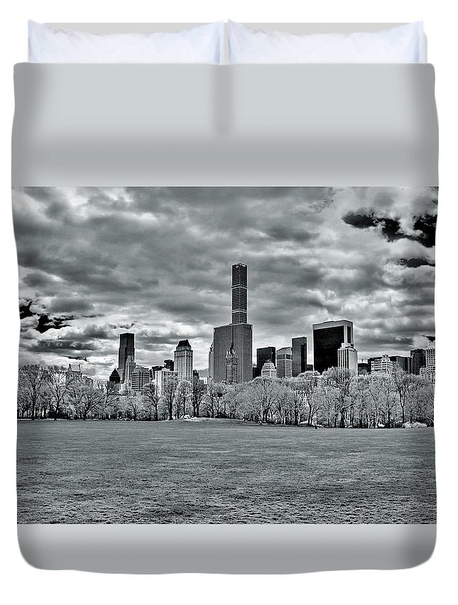City Duvet Cover featuring the photograph Panorama Of New York City by Alex Galkin
