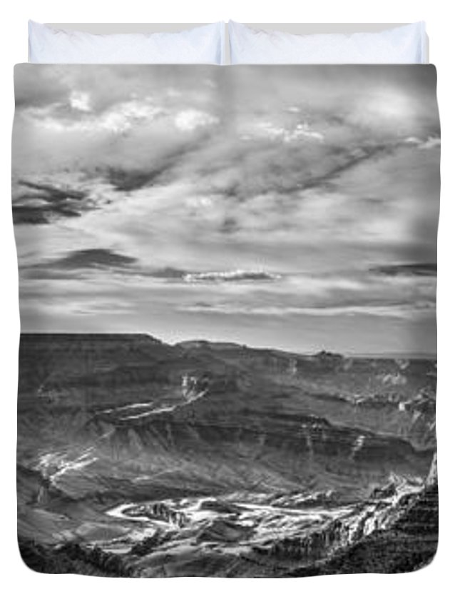 Grand Canyon Duvet Cover featuring the photograph Panoramic Of The Grand Canyon by John McGraw