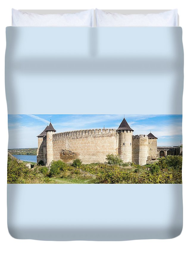 Europe Duvet Cover featuring the photograph Medieval Ukrainian Fortress by Yevhenii Volchenkov