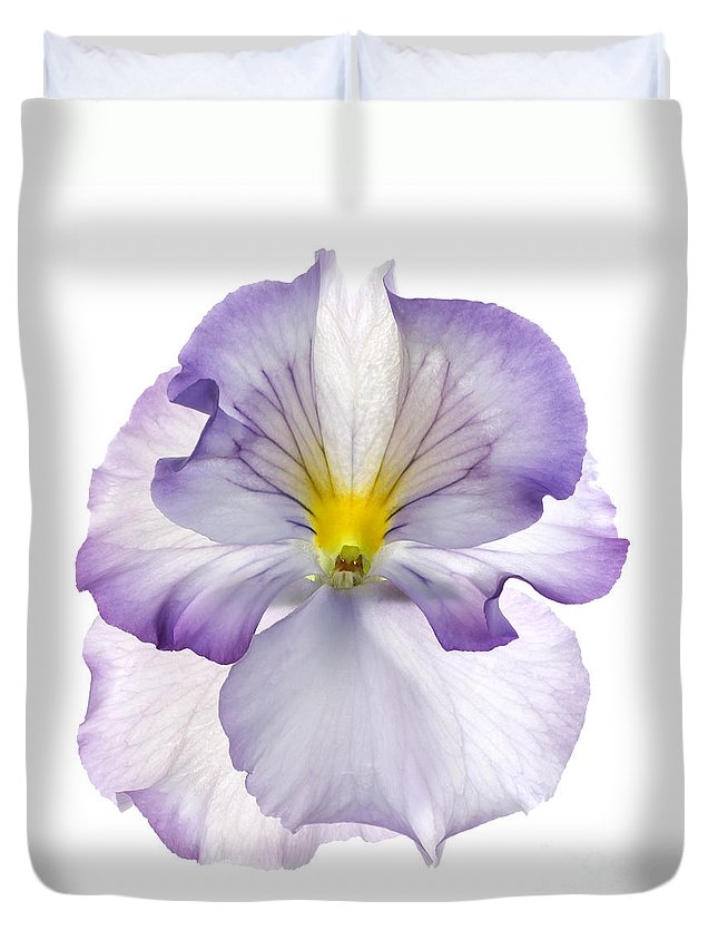 Pansy Genus Viola Duvet Cover featuring the photograph Pansy by Tony Cordoza