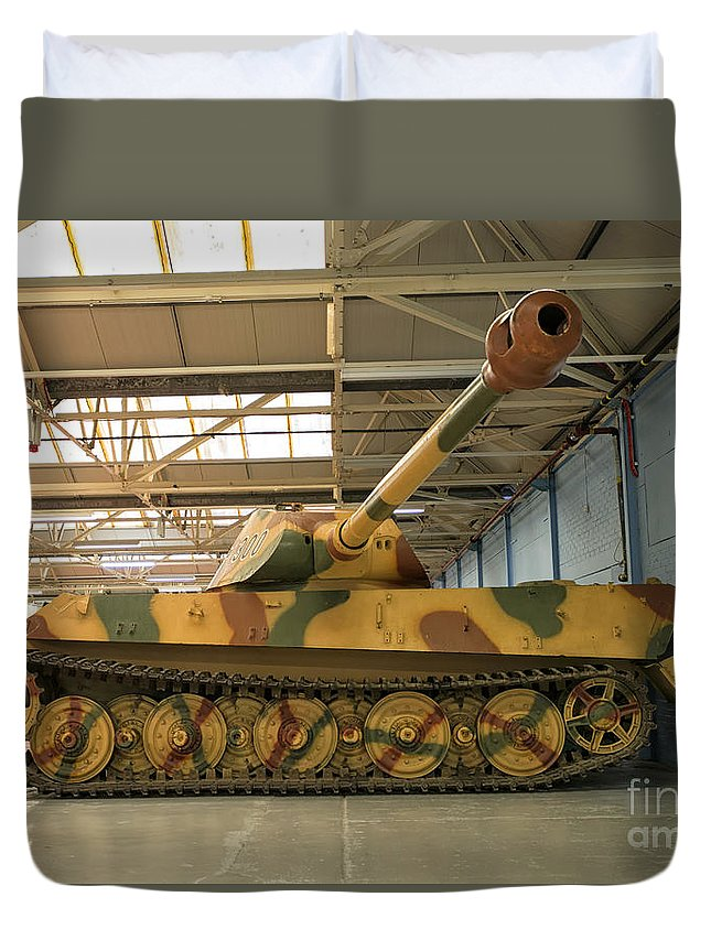 German Heavy Tank Duvet Cover featuring the photograph Panzer Vi Tiger Tank In Bovington, Uk by Ivan Batinic