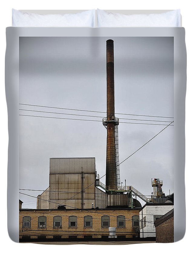 Paper Mill Duvet Cover featuring the photograph Paper Mill 2 by Tim Nyberg