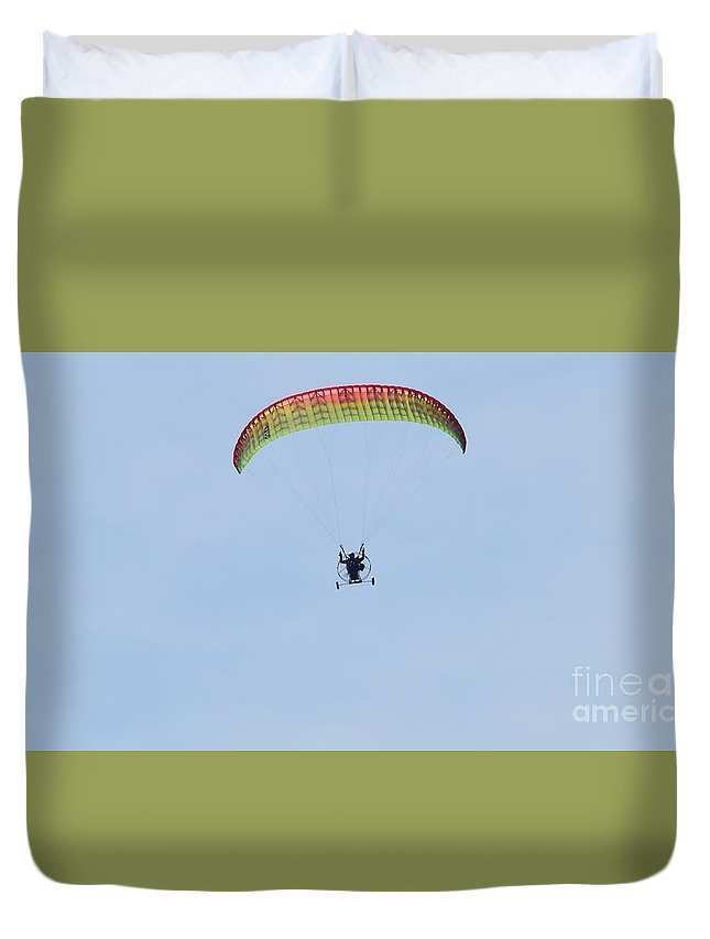 Paraglider Duvet Cover featuring the photograph Paraglider by David Parsons
