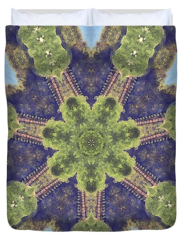 People Duvet Cover featuring the digital art Parade Of Pedestrians by Phil Perkins