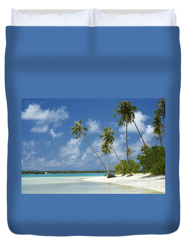 Beach Duvet Cover featuring the photograph Paradise - Maupiti Lagoon by Kyle Rothenborg - Printscapes