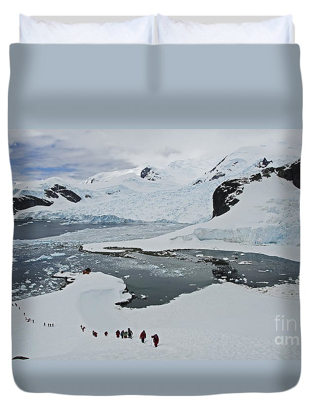 Festblues Duvet Cover featuring the photograph Paradise Bay... by Nina Stavlund