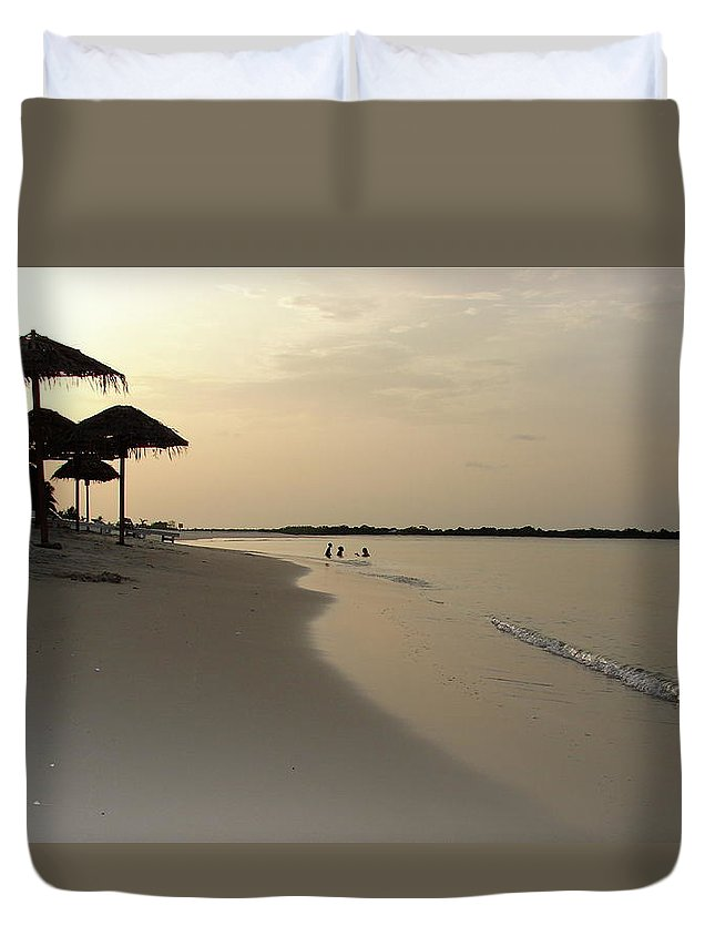 Port Gentil Duvet Cover featuring the photograph Paradise by Brett Winn