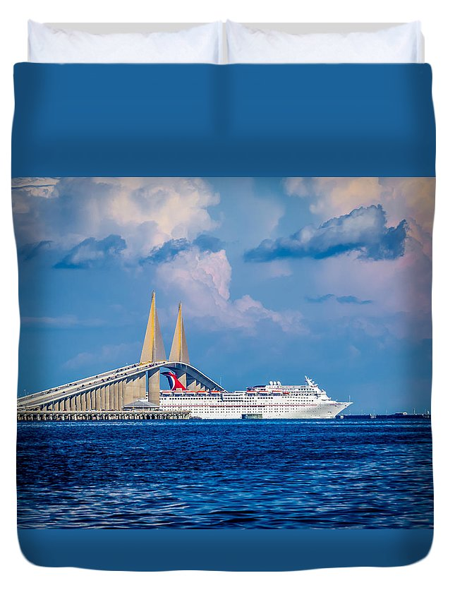Ft Desoto Duvet Cover featuring the photograph Paradise by David Kulp