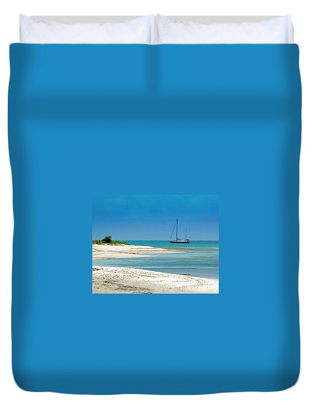Boat Duvet Cover featuring the photograph Paradise Found by Debbi Granruth