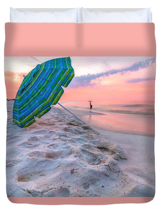 Clouds Duvet Cover featuring the photograph Paradise Found by Gary Oliver