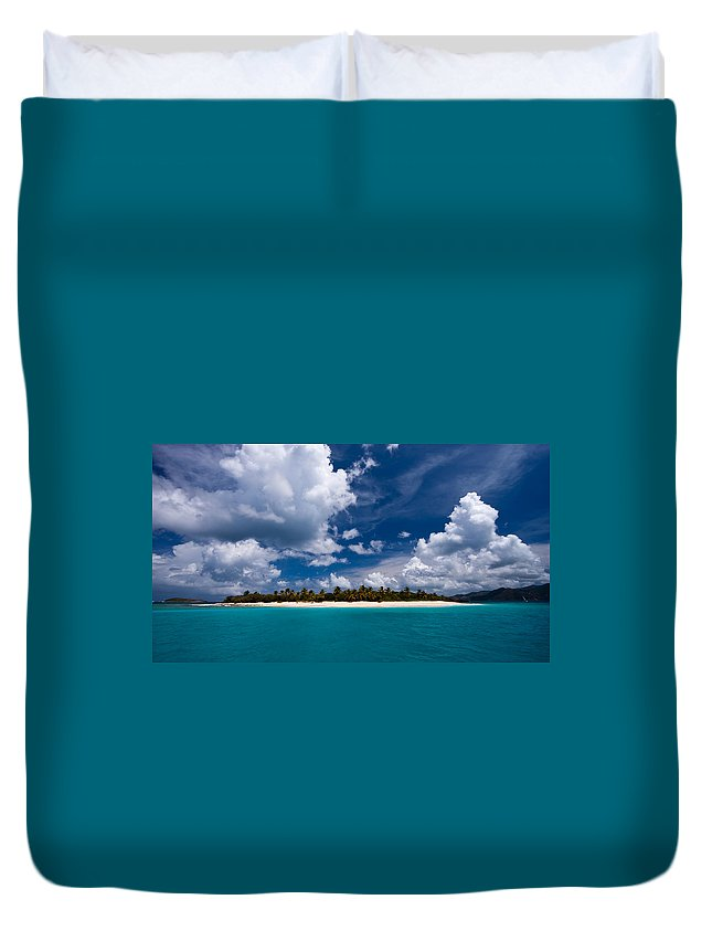 3scape Duvet Cover featuring the photograph Paradise is Sandy Cay by Adam Romanowicz