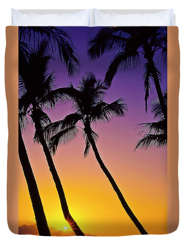 Sunset Duvet Cover featuring the photograph Paradise by Jim Cazel