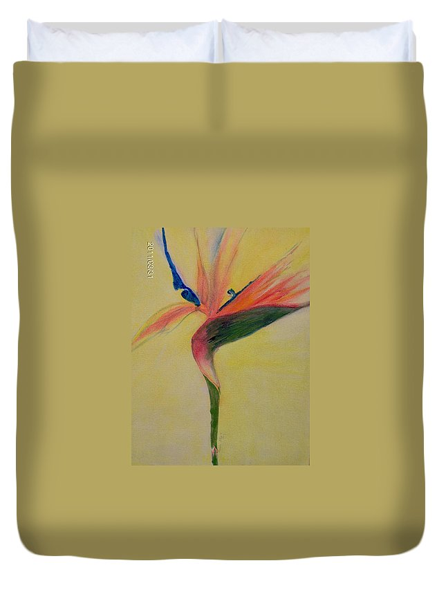 Flower Duvet Cover featuring the painting Paradise by Moneca AtleyLoring