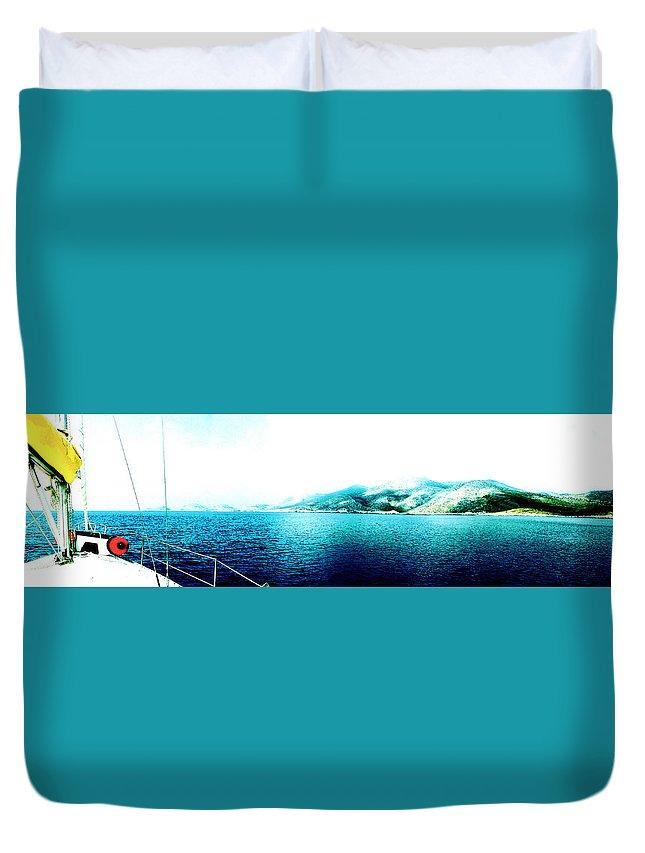 Landscape Duvet Cover featuring the digital art Paradise by Lyriel Lyra