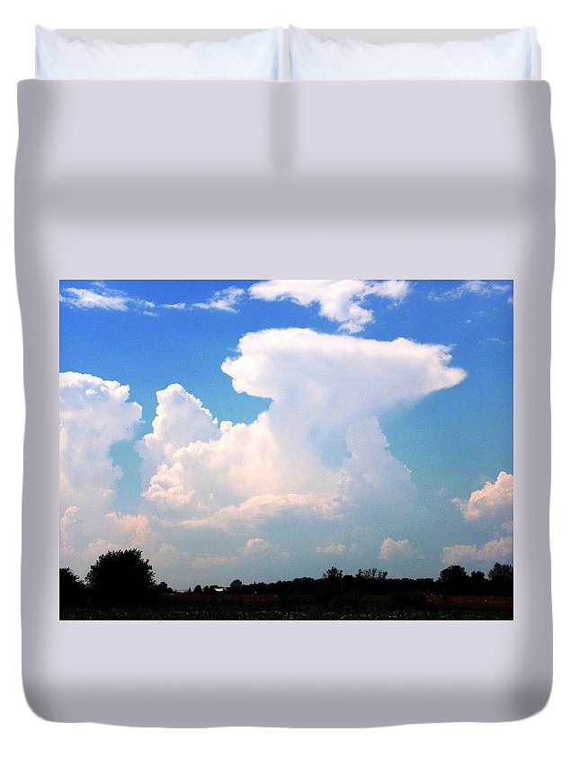 Nature Duvet Cover featuring the photograph Paradox by Peggy King