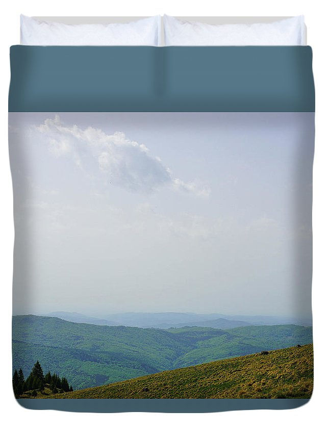 Parcul Duvet Cover featuring the photograph Parcul Natural Bucegi by Matthew Kittens