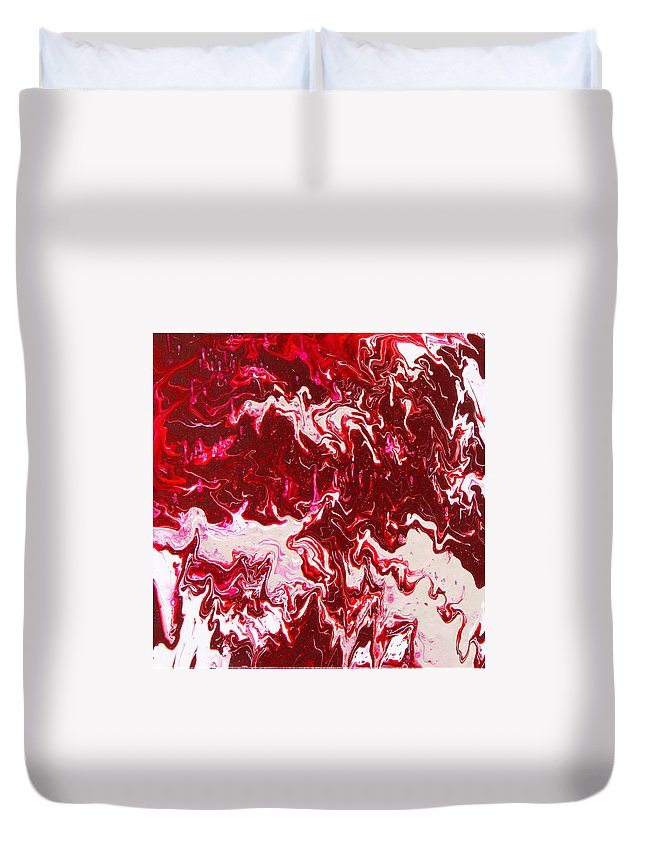 Fusionart Duvet Cover featuring the painting Parfait by Ralph White