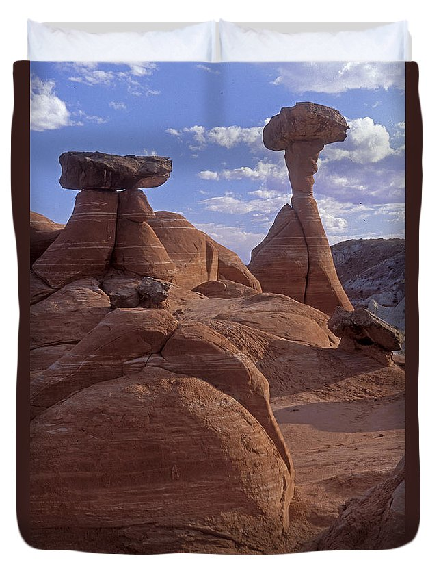 Southwest Duvet Cover featuring the photograph Paria Canyon Hoodoos by Sandra Bronstein