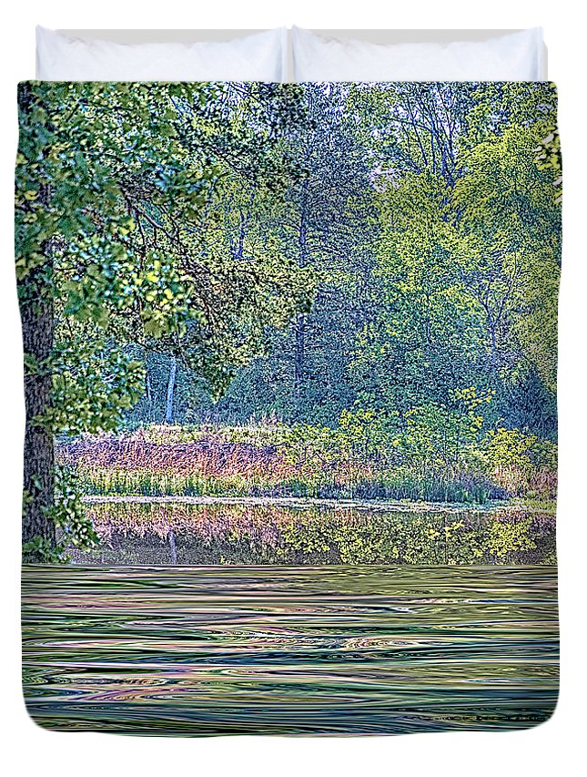 Water Duvet Cover featuring the photograph Paridise by Nancy Marie Ricketts