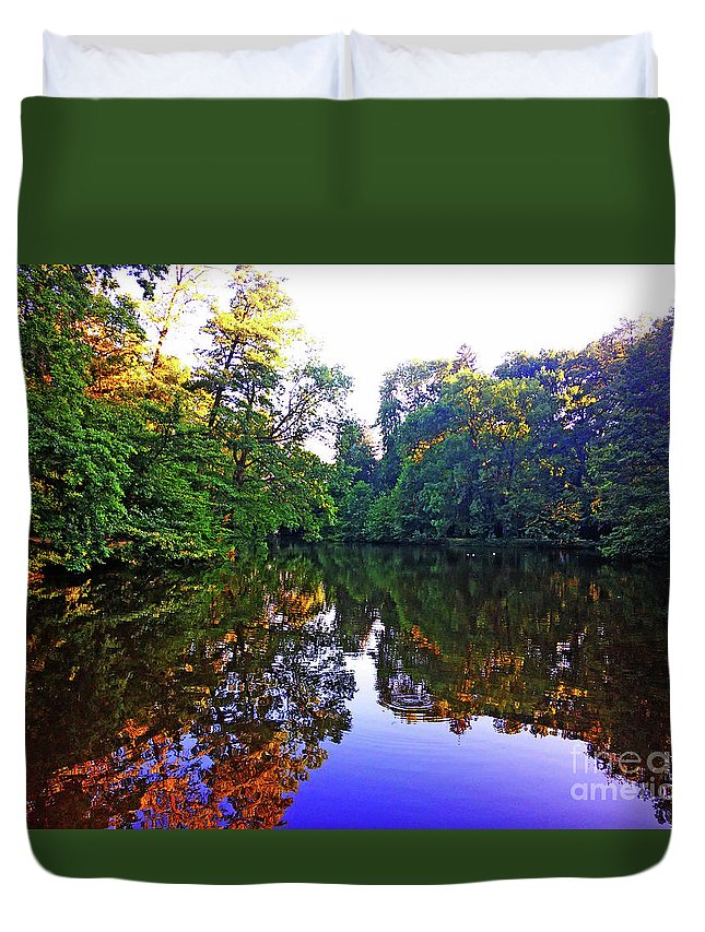 Park Duvet Cover featuring the photograph Park Maksimir - Zagreb, Croatia No. 4 by Jasna Dragun