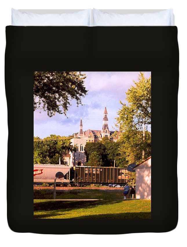 Landscape Duvet Cover featuring the photograph Park University by Steve Karol
