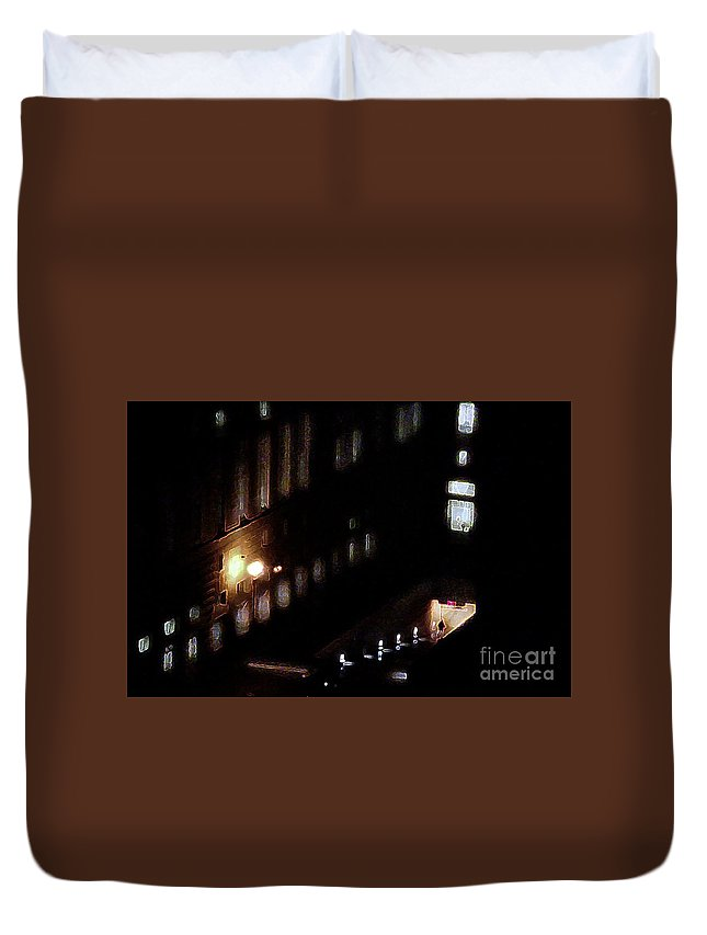 Garage Duvet Cover featuring the digital art Parking Garage by Anthony C Ellis