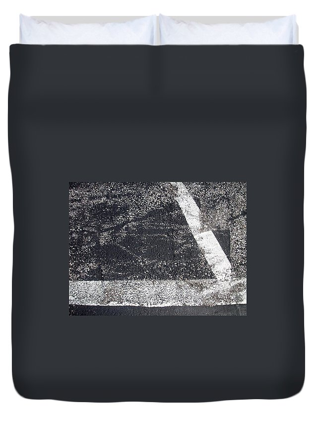 Parking Lot Duvet Cover featuring the photograph Parking Lot 2 by Anita Burgermeister