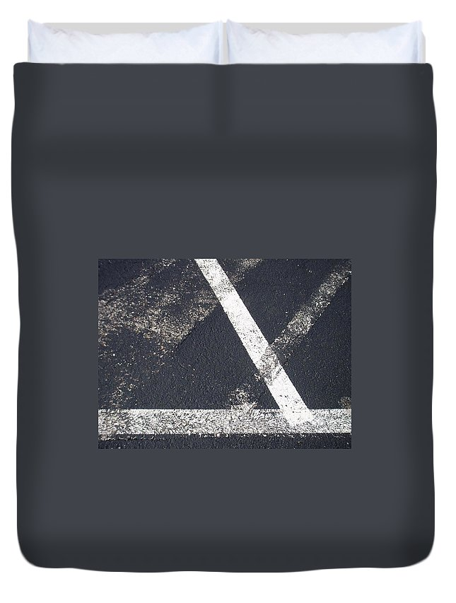 Parking Lot Duvet Cover featuring the photograph Parking Lot 6 by Anita Burgermeister
