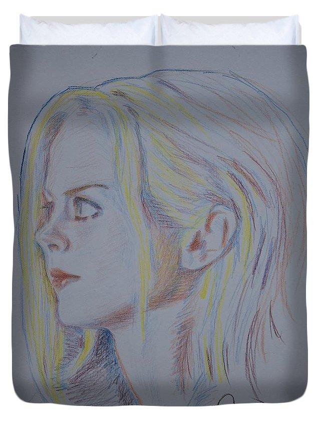 Figure Duvet Cover featuring the painting Dream Come True by Horacio Prada