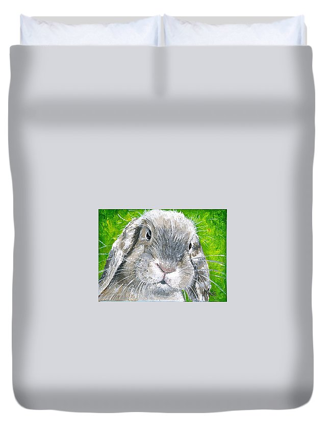 Charity Duvet Cover featuring the painting Parsnip by Mary-Lee Sanders