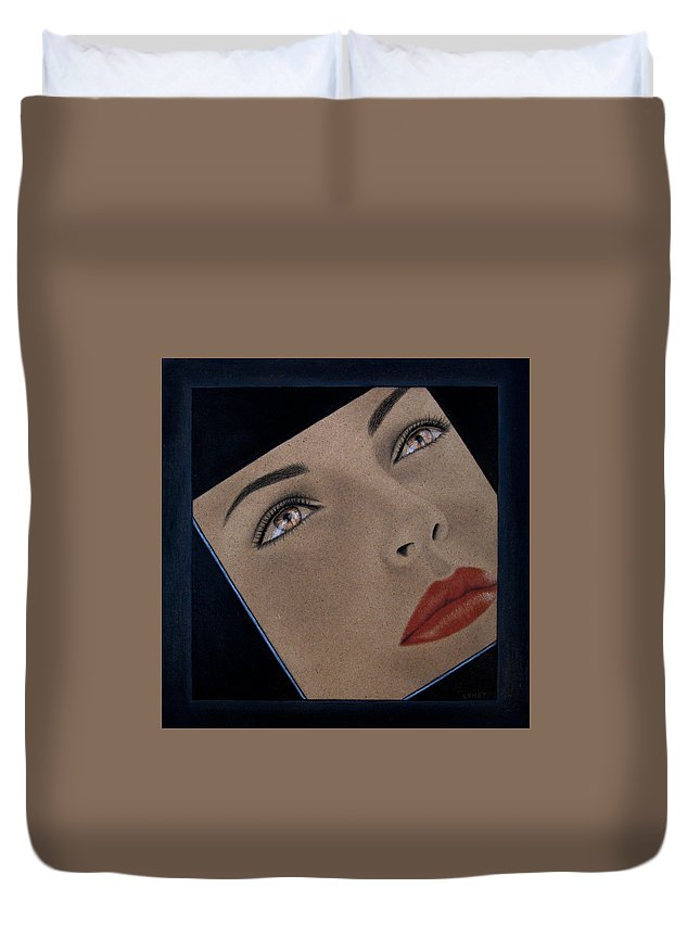 Part Of You Duvet Cover featuring the painting Part Of You by Lynet McDonald