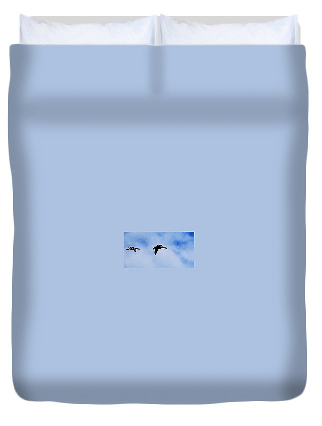 Digital Photography Duvet Cover featuring the photograph Partners by David Lane