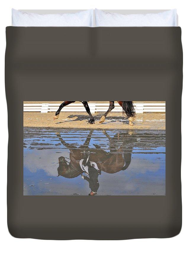 Horse Duvet Cover featuring the photograph Pas De Deux by JAMART Photography