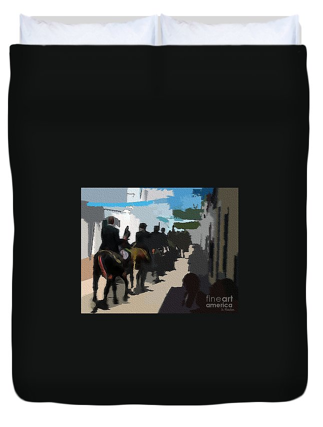 Ebsq Duvet Cover featuring the photograph Paseo 2 by Dee Flouton