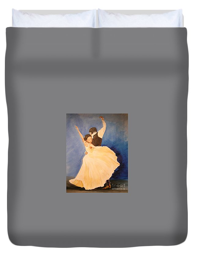 Spain Duvet Cover featuring the painting Pasion Gitana by Lizzy Forrester