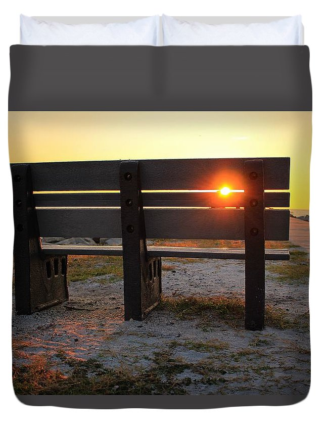 Sunset Duvet Cover featuring the photograph Pass-a-grille Glow by Kelly Lang