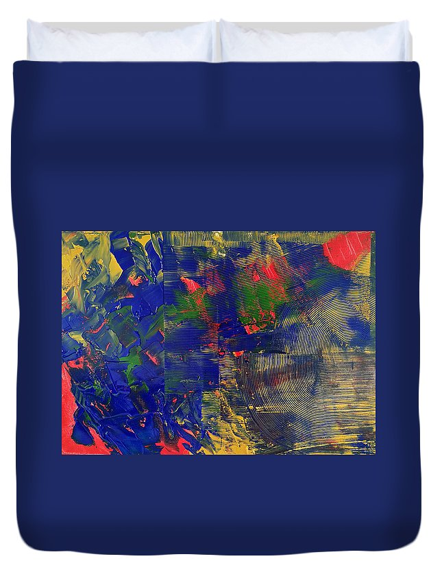 Original Duvet Cover featuring the painting Passing Time by Yueer Xu