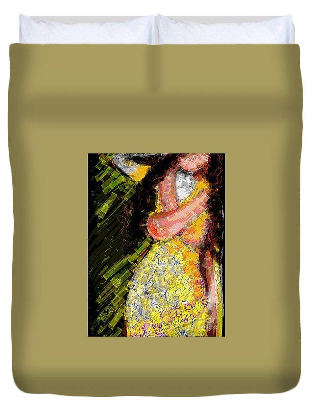 Love Duvet Cover featuring the digital art Passion And Love by Subrata Bose