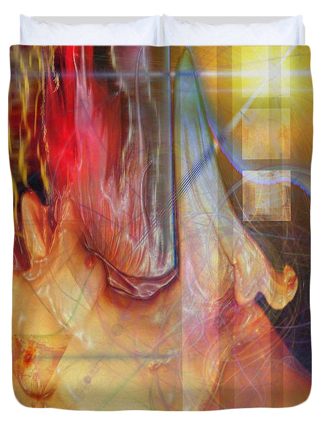 Passion Play Duvet Cover featuring the digital art Passion Play by John Beck