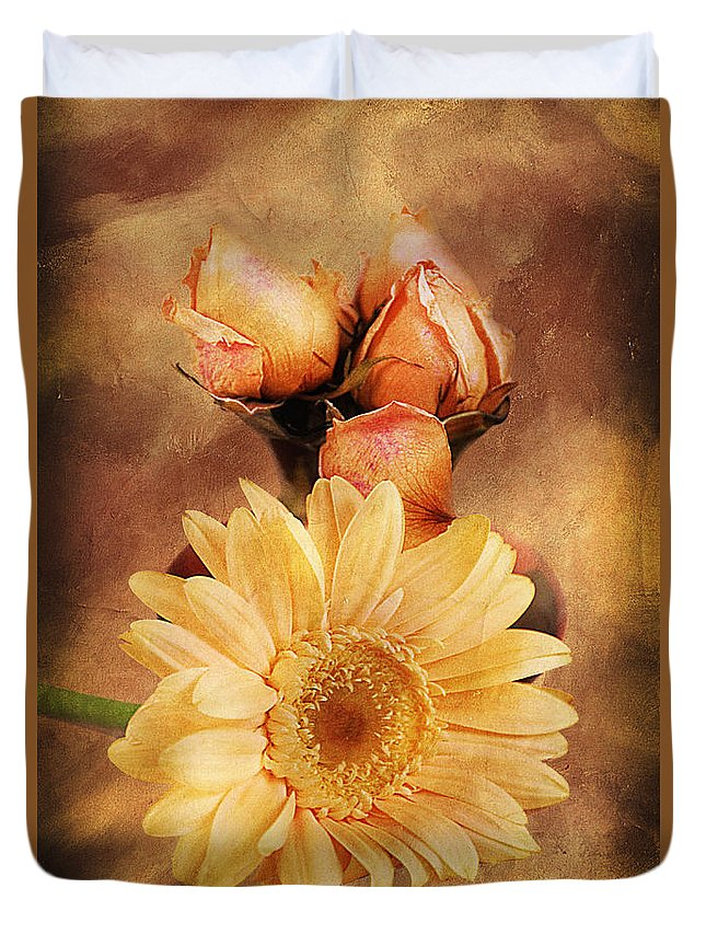 Vintage Duvet Cover featuring the photograph Past Life by Georgiana Romanovna