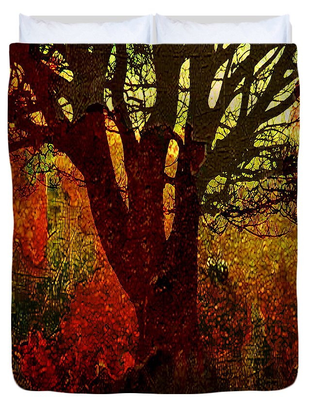 Tree Duvet Cover featuring the digital art Past Life by Ken Walker