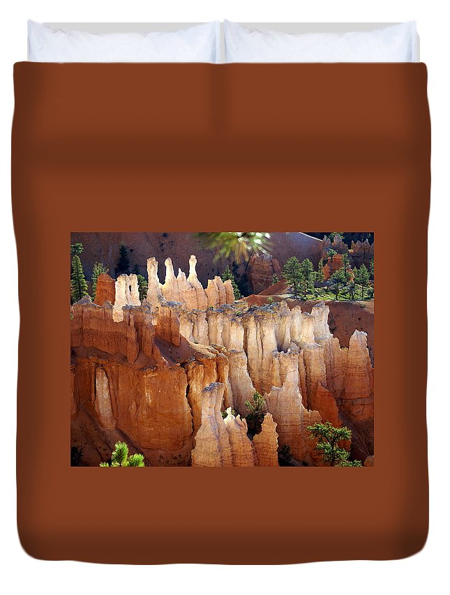 Bryce Canyon National Park Duvet Cover featuring the photograph Pastel Bryce by Marty Koch